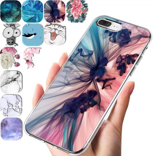 Safers IMD Case für Apple iPhone 7 Plus / 8 Plus Hülle Silikon Case mit Muster Schutzhülle