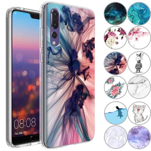 Safers IMD Case für Huawei P20 Pro Hülle Silikon Case mit Muster Schutzhülle