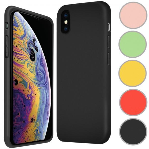 Safers Color TPU für Apple iPhone X / XS Hülle Soft Silikon Case mit innenliegendem Stoffbezug