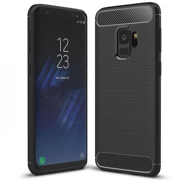 Safers Carbon Hülle für Samsung Galaxy S9 Schutzhülle Handy Case Cover