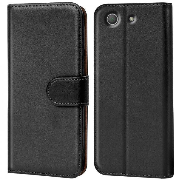 Safers Basic Wallet für Sony Xperia Z3 Compact Hülle Bookstyle Klapphülle Handy Schutz Tasche
