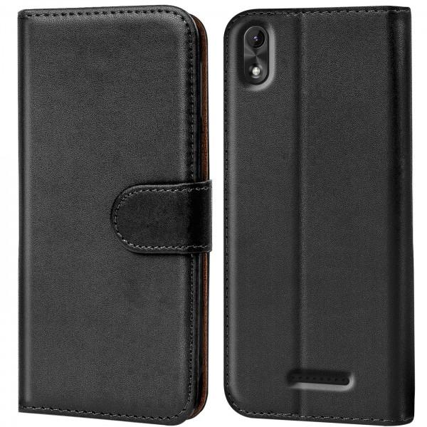 Safers Basic Wallet für Wiko Lenny 4 Plus Hülle Bookstyle Klapphülle Handy Schutz Tasche