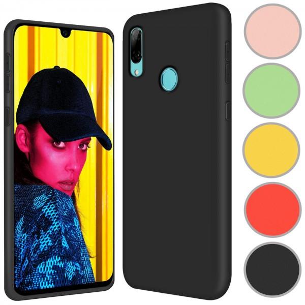 Safers Color TPU für Huawei P Smart 2019 Hülle Soft Silikon Case mit innenliegendem Stoffbezug