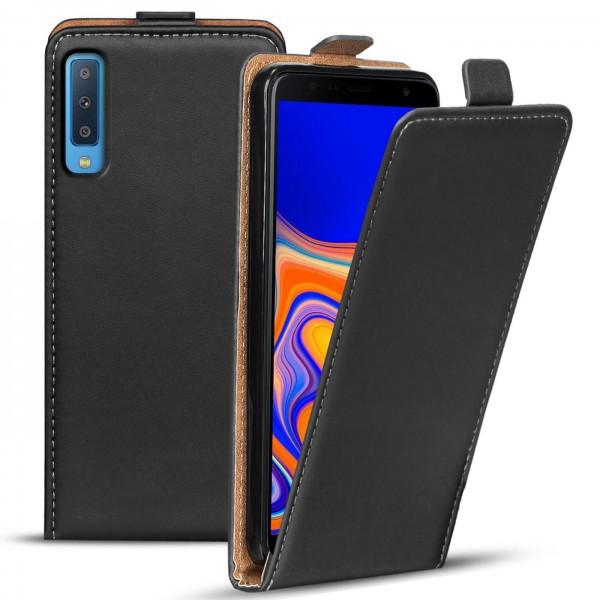 Safers Flipcase für Samsung Galaxy A7 2018 Hülle Klapphülle Cover klassische Handy Schutzhülle