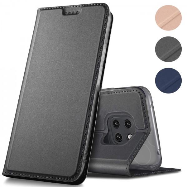 Safers Electro Flip für Huawei Mate 20 Pro Hülle Magnet Case Handy Tasche Klapphülle