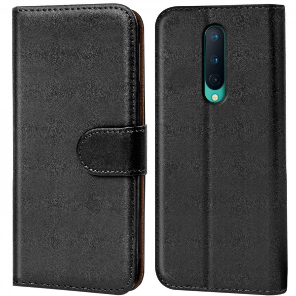 Safers Basic Wallet für OnePlus 8 Hülle Bookstyle Klapphülle Handy Schutz Tasche