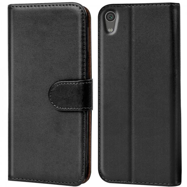 Safers Basic Wallet für Sony Xperia XA1 Ultra Hülle Bookstyle Klapphülle Handy Schutz Tasche