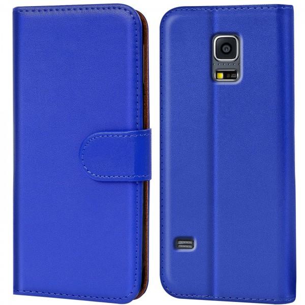 Safers Basic Wallet für Samsung Galaxy S5 / S5 Neo Hülle Bookstyle Klapphülle Handy Schutz Tasche