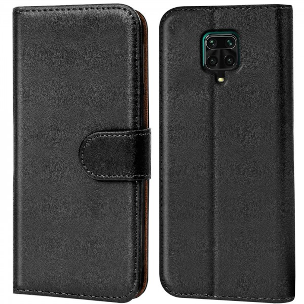 Safers Basic Wallet für Xiaomi Redmi Note 9 Pro / 9S Hülle Bookstyle Klapphülle Handy Schutz Tasche