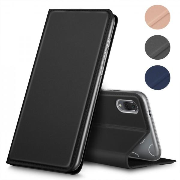 Safers Electro Flip für Huawei Y6 2019 Hülle Magnet Case Handy Tasche Klapphülle