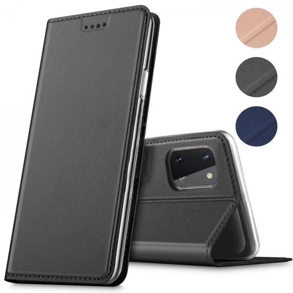 Safers Electro Flip für Samsung Galaxy Note 10 Lite Hülle Magnet Case Handy Tasche Klapphülle