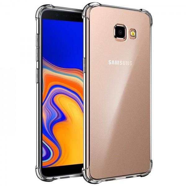 Safers Rugged TPU für Samsung Galaxy J4 Plus Schutzhülle Anti Shock Handy Case Transparent