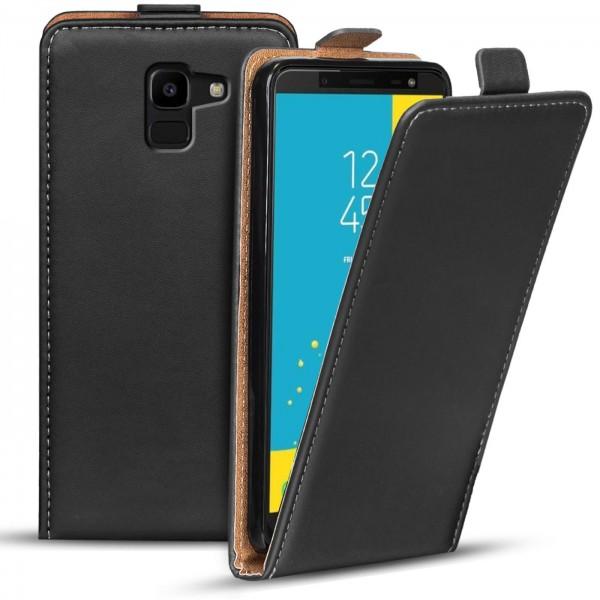 Safers Flipcase für Samsung Galaxy J6 2018 Hülle Klapphülle Cover klassische Handy Schutzhülle