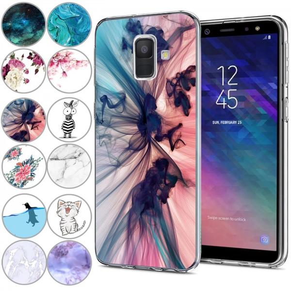 Safers IMD Case für Samsung Galaxy A6 Hülle Silikon Case mit Muster Schutzhülle