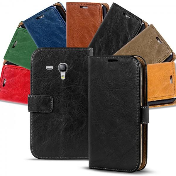 Safers Retro Tasche für Samsung Galaxy S3 Mini Hülle Wallet Case Handyhülle Vintage Slim Cover