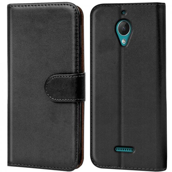 Safers Basic Wallet für Wiko Tommy 2 Plus Hülle Bookstyle Klapphülle Handy Schutz Tasche