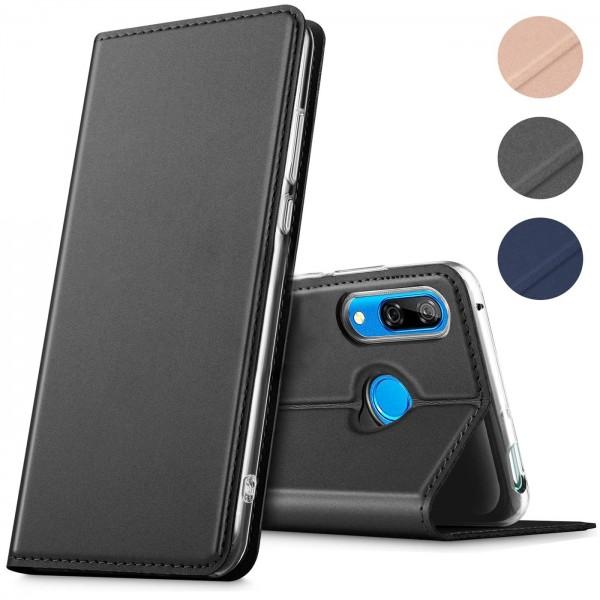 Safers Electro Flip für Huawei P Smart Z Hülle Magnet Case Handy Tasche Klapphülle