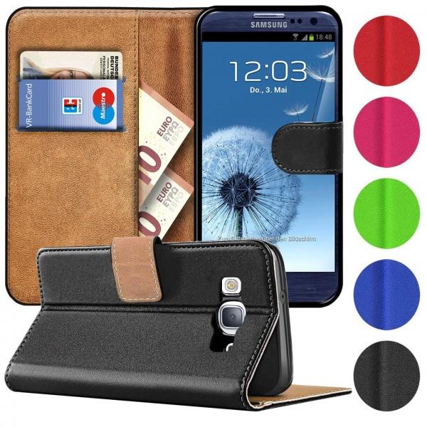 Safers Basic Wallet für Samsung Galaxy S3 / S3 Neo Hülle Bookstyle Klapphülle Handy Schutz Tasche