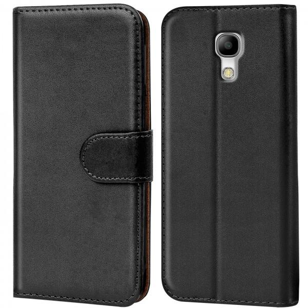 Safers Basic Wallet für Samsung Galaxy S4 Hülle Bookstyle Klapphülle Handy Schutz Tasche
