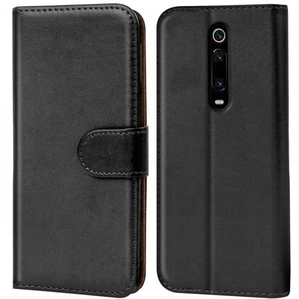 Safers Basic Wallet für Xiaomi Mi 9T Hülle Bookstyle Klapphülle Handy Schutz Tasche