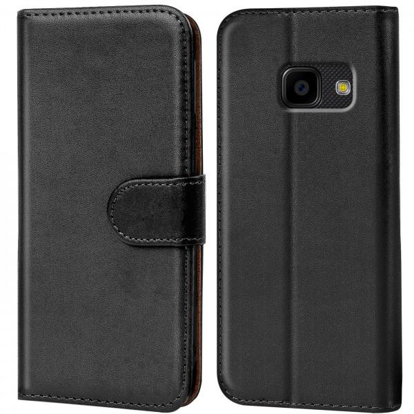 Safers Basic Wallet für Samsung Galaxy XCover 4 Hülle Bookstyle Klapphülle Handy Schutz Tasche