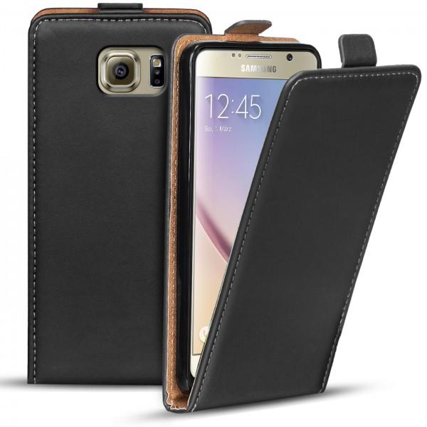 Safers Flipcase für Samsung Galaxy S6 Hülle Klapphülle Cover klassische Handy Schutzhülle