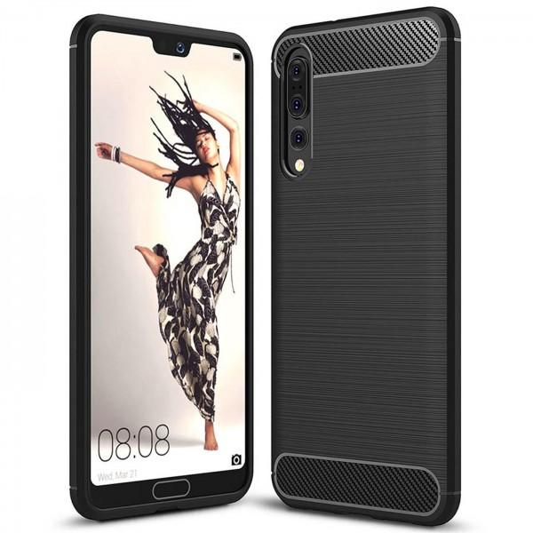 Safers Carbon Hülle für Huawei P20 Pro Schutzhülle Handy Case Cover