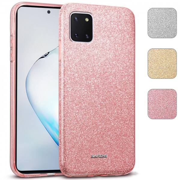 Safers Shiny für Samsung Galaxy Note 10 Lite Hülle Glitzer Cover TPU Schutzhülle