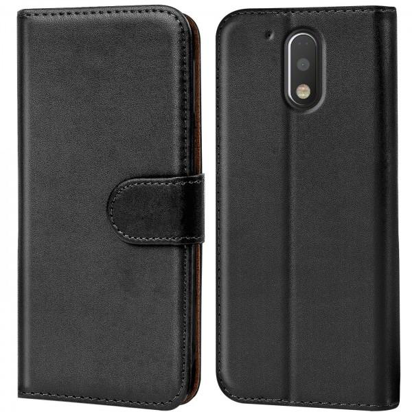 Safers Basic Wallet für Motorola Moto G4 / G4 Plus Hülle Bookstyle Klapphülle Handy Schutz Tasche