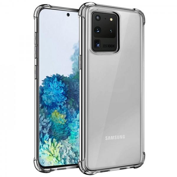 Safers Rugged TPU für Samsung Galaxy S20 Ultra Schutzhülle Anti Shock Handy Case Klar Cover