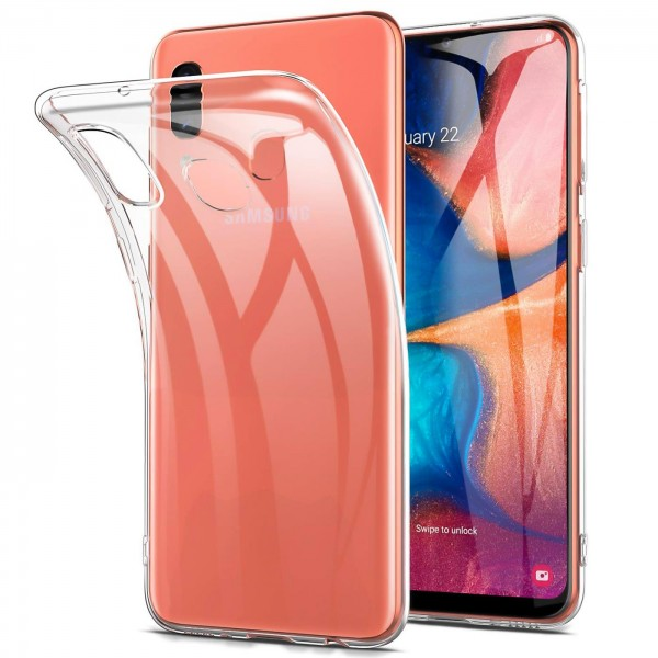 Safers Zero Case für Samsung Galaxy A20e Hülle Transparent Slim Cover Clear Schutzhülle