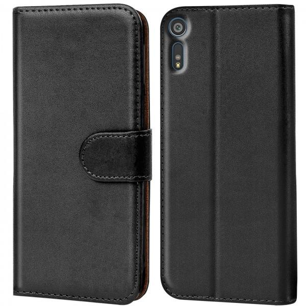 Safers Basic Wallet für Sony Xperia XZ Hülle Bookstyle Klapphülle Handy Schutz Tasche