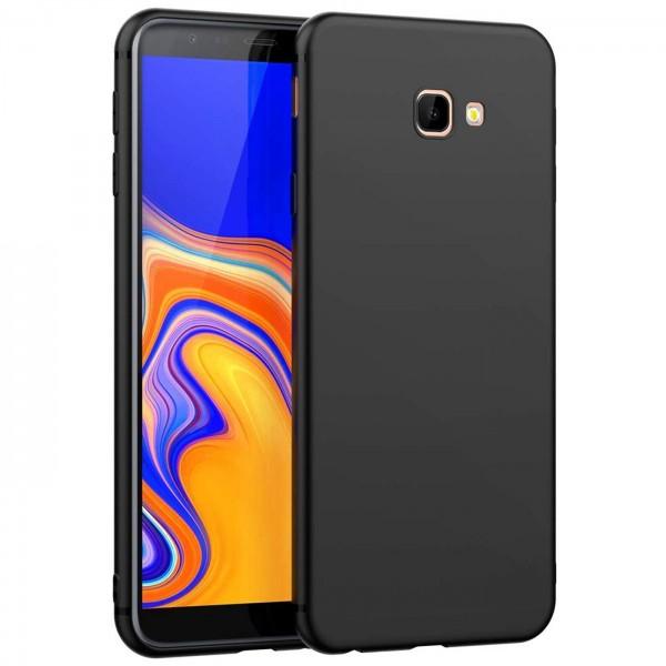 Safers Classic TPU für Samsung Galaxy J4 Plus Schutzhülle Hülle Schwarz Handy Case