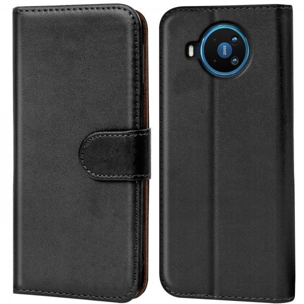 Safers Basic Wallet für Nokia 8.3 5G Hülle Bookstyle Klapphülle Handy Schutz Tasche