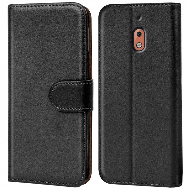 Safers Basic Wallet für Nokia 2.1 Hülle Bookstyle Klapphülle Handy Schutz Tasche