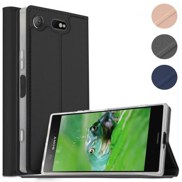 Safers Electro Flip für Sony Xperia XZ1 Compact Hülle Magnet Case Handy Tasche Klapphülle