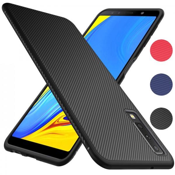 Safers Fancy für Samsung Galaxy A7 2018 Handy Schutz Hülle Silikon Case Luxuriös Cover