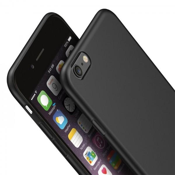 Safers Classic TPU für Apple iPhone 6 Plus / 6s Plus Schutzhülle Hülle Schwarz Handy Case