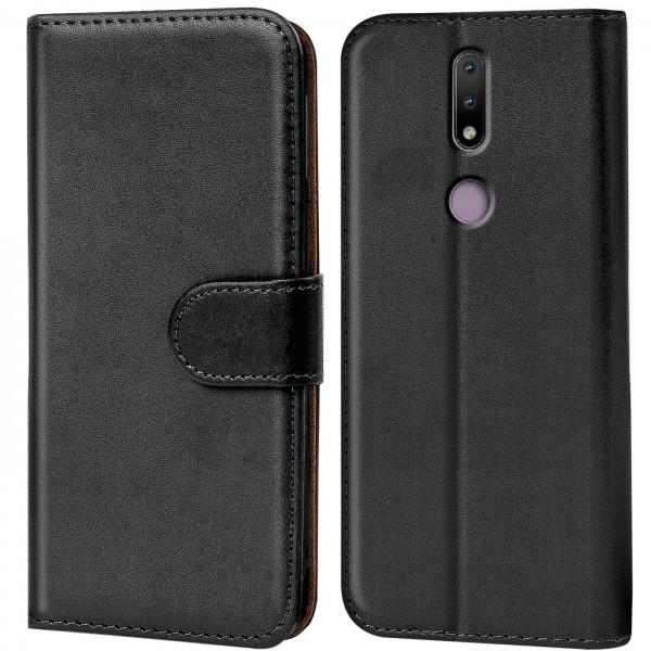 Safers Basic Wallet für Nokia 2.4 Hülle Bookstyle Klapphülle Handy Schutz Tasche