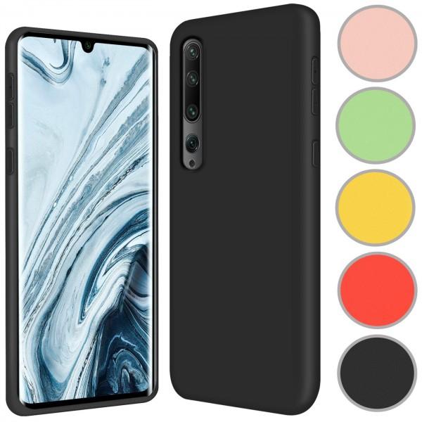 Safers Color TPU für Xiaomi Mi Note 10 Hülle Soft Silikon Case mit innenliegendem Stoffbezug