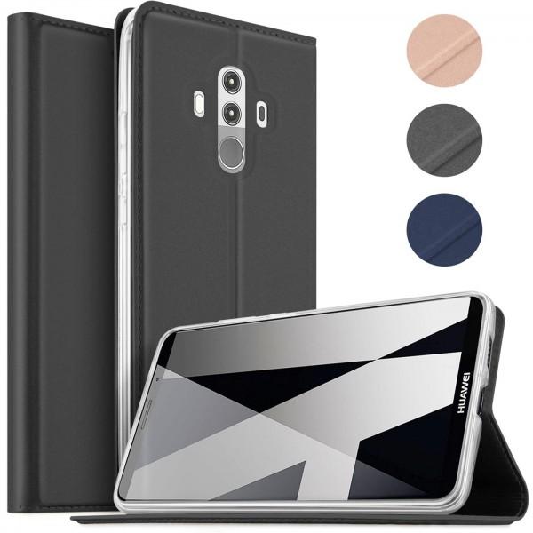 Safers Electro Flip für Huawei Mate 10 Pro Hülle Magnet Case Handy Tasche Klapphülle