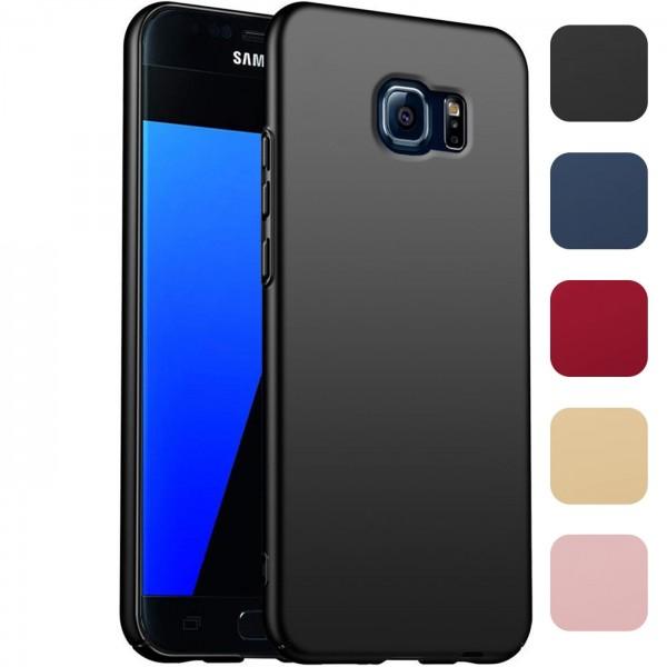 Safers Classic Plain für Samsung Galaxy S7 Hülle Slim Cover Matt Schutzhülle