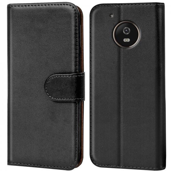 Safers Basic Wallet für Motorola Moto G5 Hülle Bookstyle Klapphülle Handy Schutz Tasche