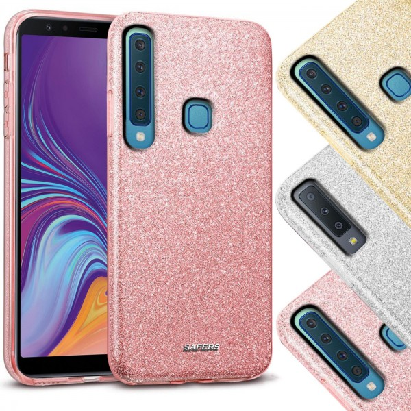 Safers Shiny für Samsung Galaxy A9 2018 Hülle Glitzer Cover TPU Schutzhülle