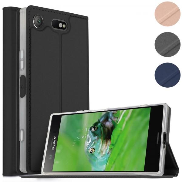 Safers Electro Flip für Sony Xperia XZ1 Hülle Magnet Case Handy Tasche Klapphülle