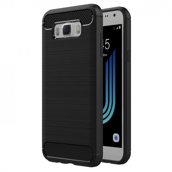 Safers Carbon Hülle für Samsung Galaxy J5 2016 Schutzhülle Handy Case Cover