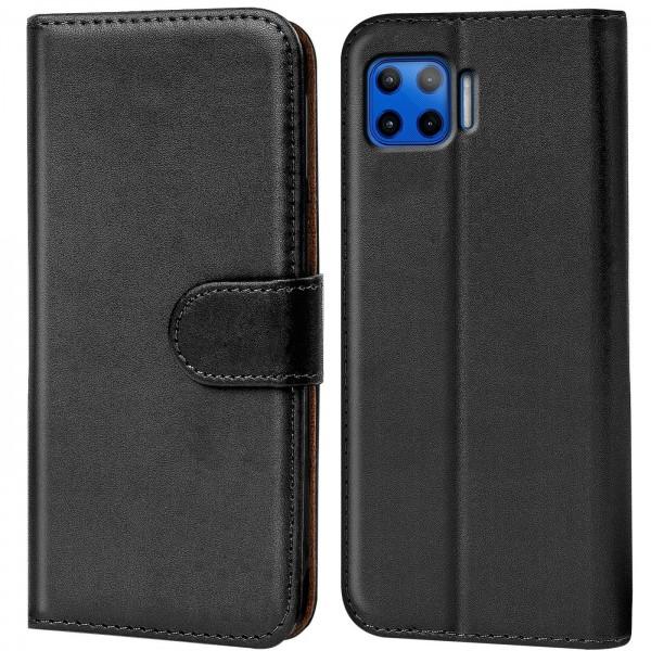 Safers Basic Wallet für Motorola Moto G 5G Plus Hülle Bookstyle Klapphülle Handy Schutz Tasche